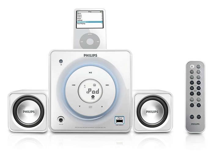 Dock og afspil din digitale musik højt