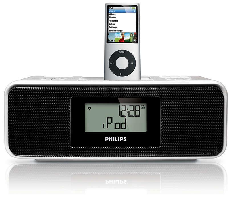 Probouzejte se hudbou ze zařízení iPod
