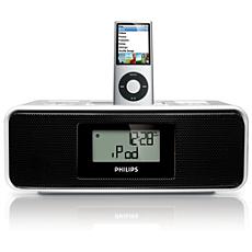 DC200/12  Rádio relógio para iPod