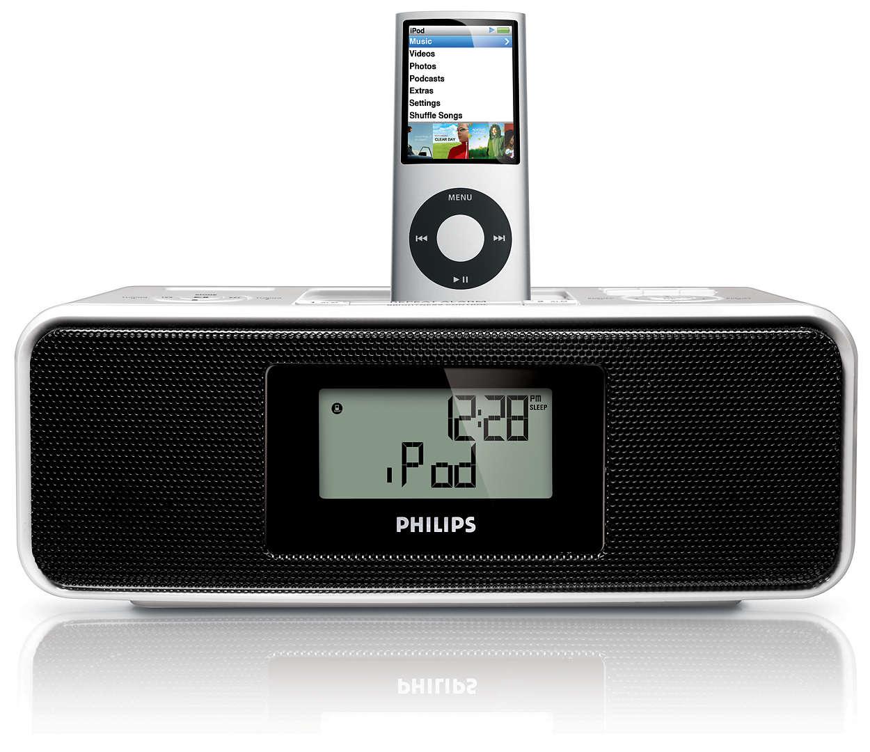 Zobuďte sa na hudbu z prehrávača iPod