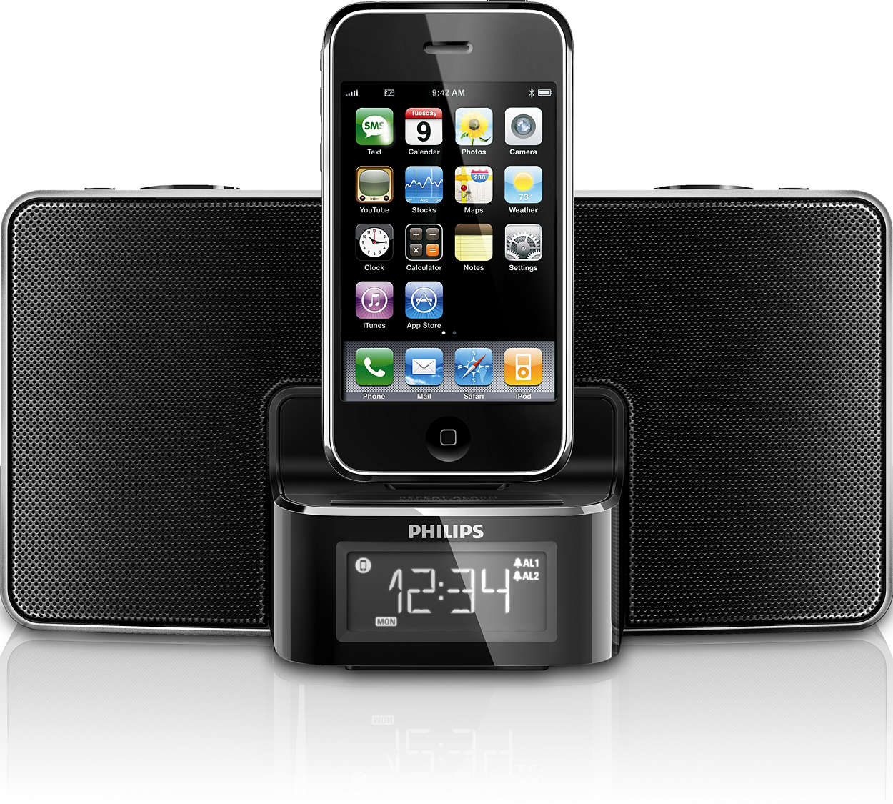 alarm clock radio for ipod iphone dc220 12 philips. Black Bedroom Furniture Sets. Home Design Ideas