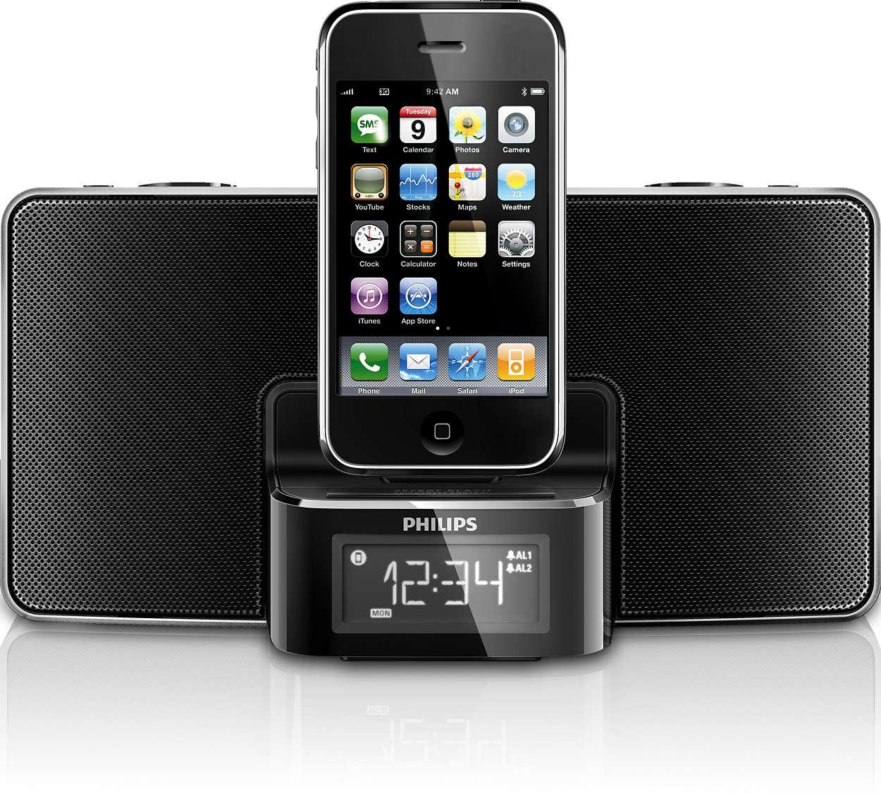 Radio réveil pour iPodiPhone