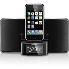"""DC220/12  Laikrodis-radijas, skirtas """"iPod""""/""""iPhone"""""""