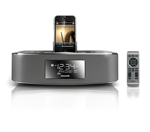 docking station for ipod iphone dc290b 37 philips. Black Bedroom Furniture Sets. Home Design Ideas