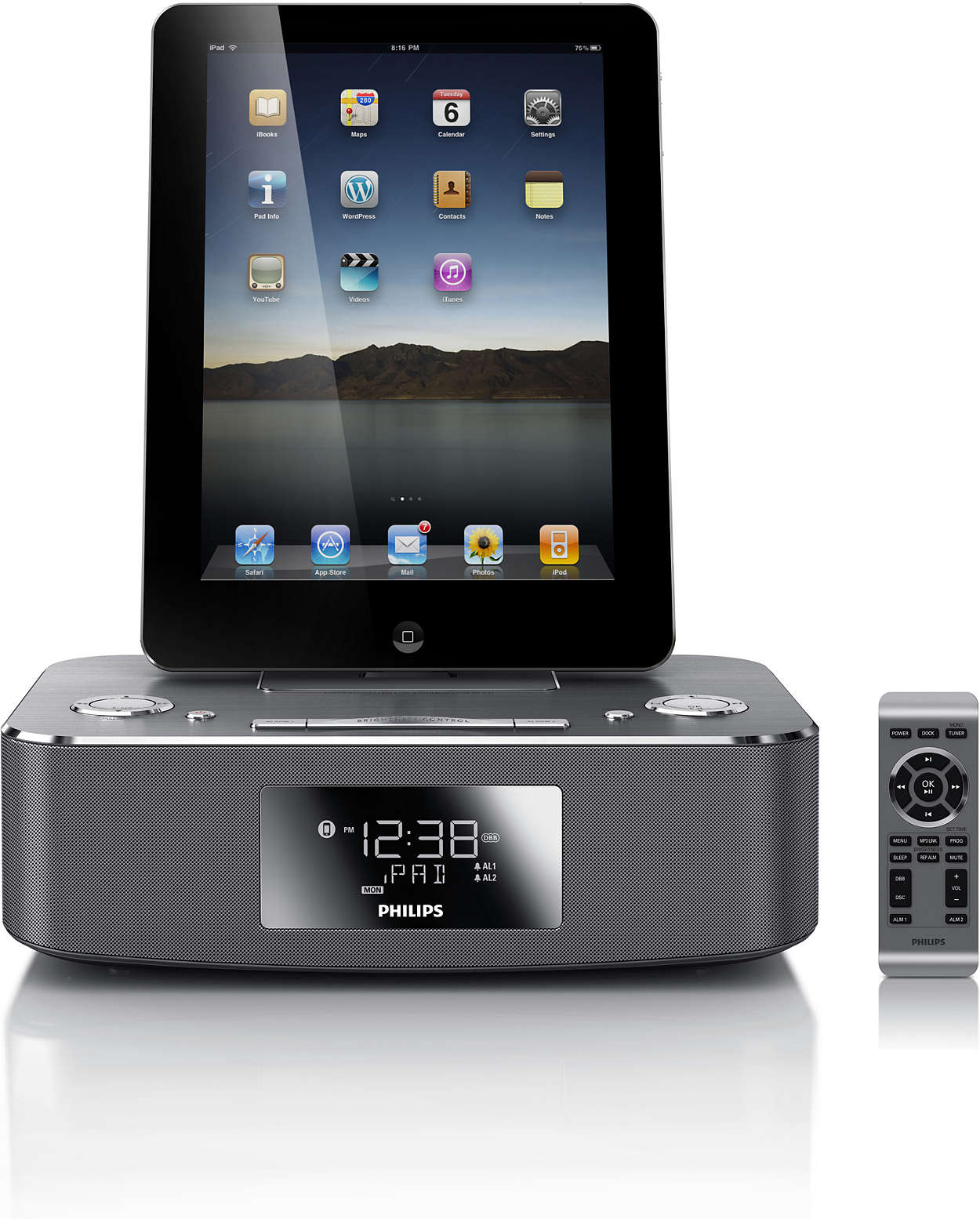 docking station for ipod iphone ipad dc291 12 philips. Black Bedroom Furniture Sets. Home Design Ideas