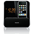 Rádio-relógio despertador para iPod/iPhone