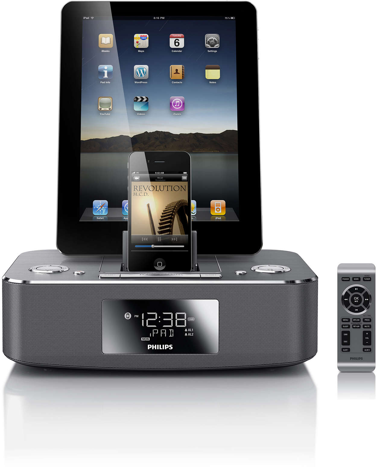 dockingstation f r ipod iphone ipad dc390 12 philips. Black Bedroom Furniture Sets. Home Design Ideas