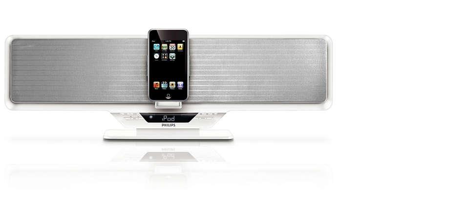 Ouça as músicas do iPod a todo volume com os alto-falantes wOOx