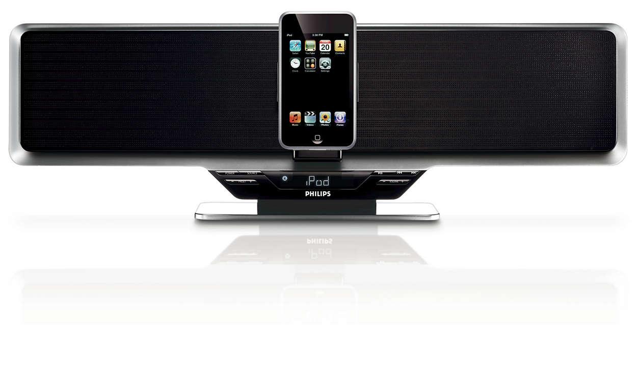 Vychutnejte si hudbu zpřehrávače iPod nahlas a seskvělým zvukem