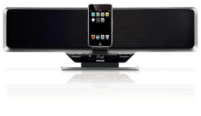 Слушайте музыку с iPod на полной громкости и с прекрасным звуком