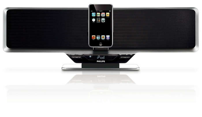 Enjoy iPod music out loud in superb sound