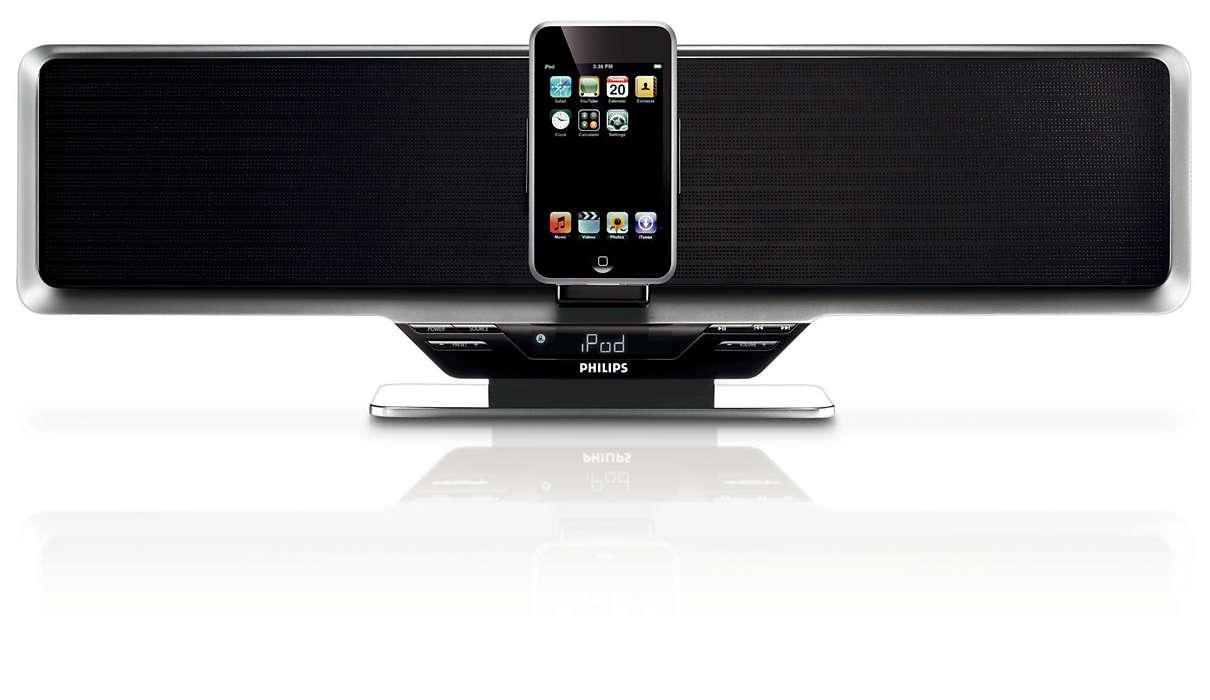 เพลิดเพลินกับเพลง iPod เร้าใจในพลังเสียงคุณภาพเยี่ยม