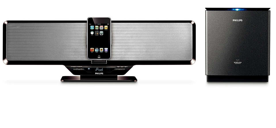 Disfruta de la música de tu iPod con el subwoofer inalámbrico