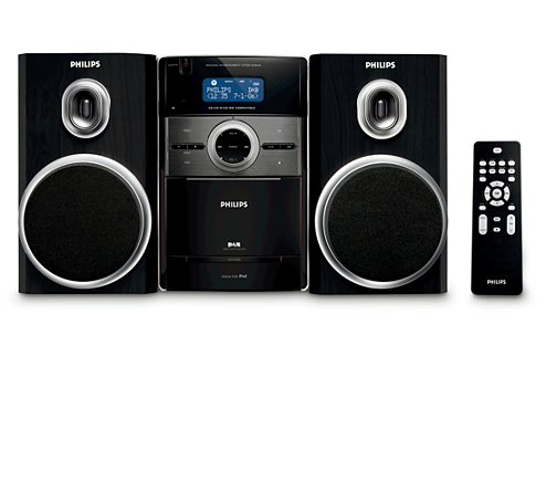 klassisches micro soundsystem dcb146 12 philips. Black Bedroom Furniture Sets. Home Design Ideas