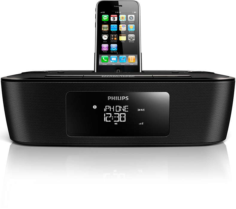 Wake up to your iPhone/iPod music or DAB radio