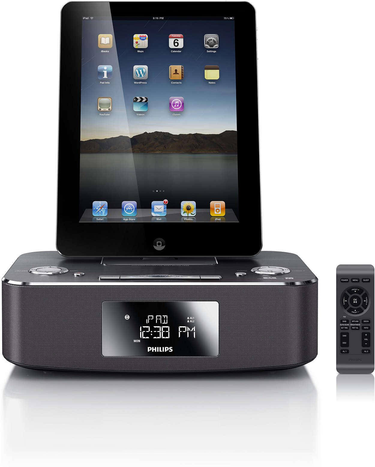 docking station for ipod iphone ipad dcb291 12 philips. Black Bedroom Furniture Sets. Home Design Ideas