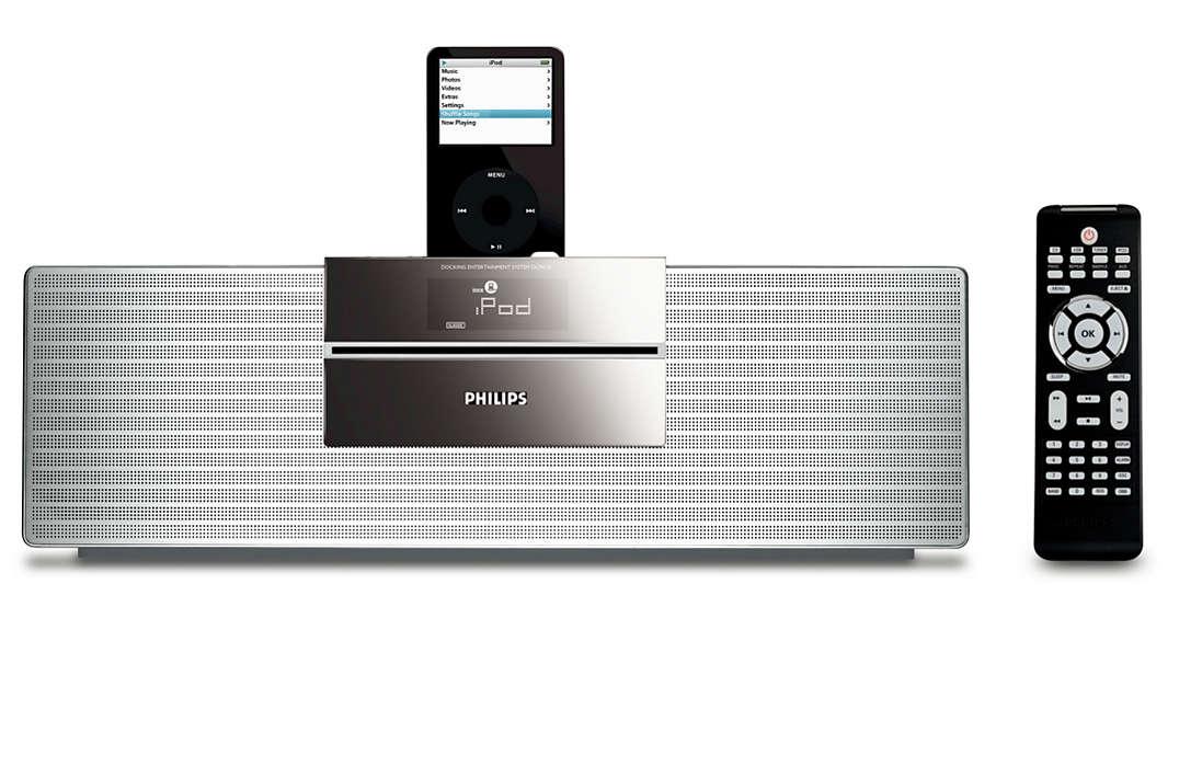Disfruta de la música del iPod con sonido Hi-Fi