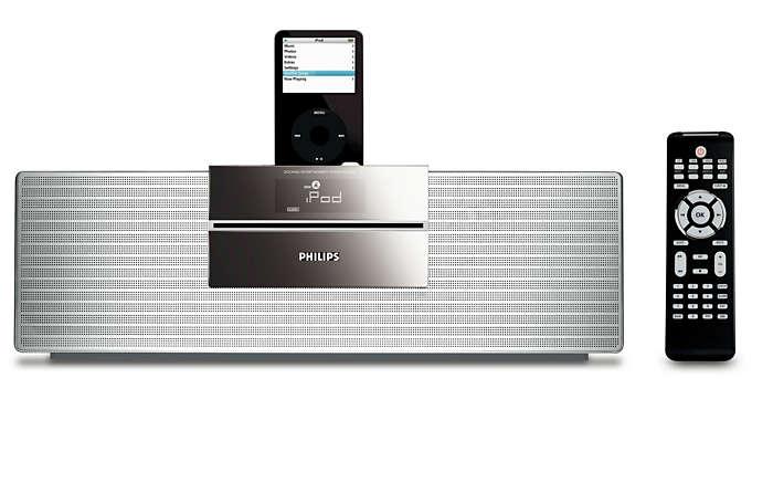 Desfrute da música do seu iPod em qualidade de som Hi-Fi