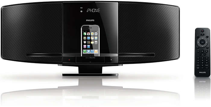 schlankes micro soundsystem dcm292 12 philips. Black Bedroom Furniture Sets. Home Design Ideas