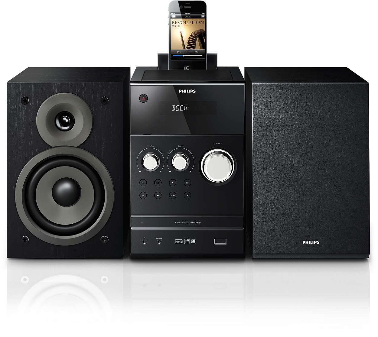 klassisches micro soundsystem dcm3120 12 philips. Black Bedroom Furniture Sets. Home Design Ideas