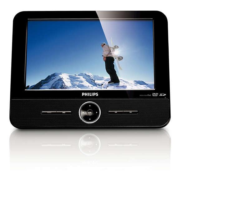 Disfruta de tus videos desde una tarjeta SD, DVD y iPod