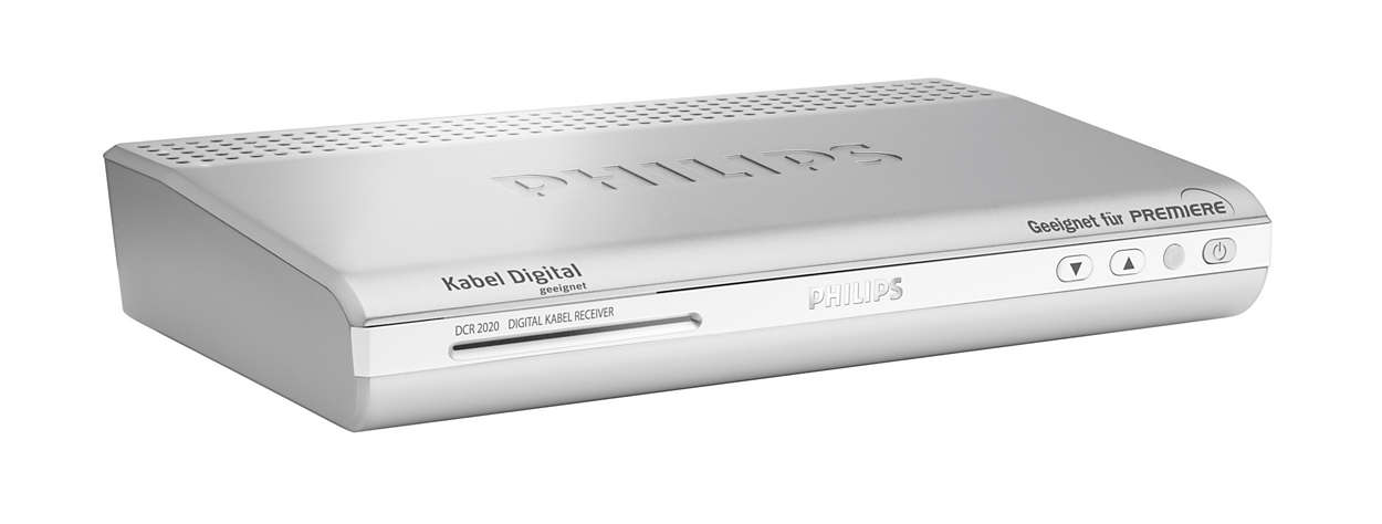 digitaler kabel tv receiver dcr2020 02 philips. Black Bedroom Furniture Sets. Home Design Ideas