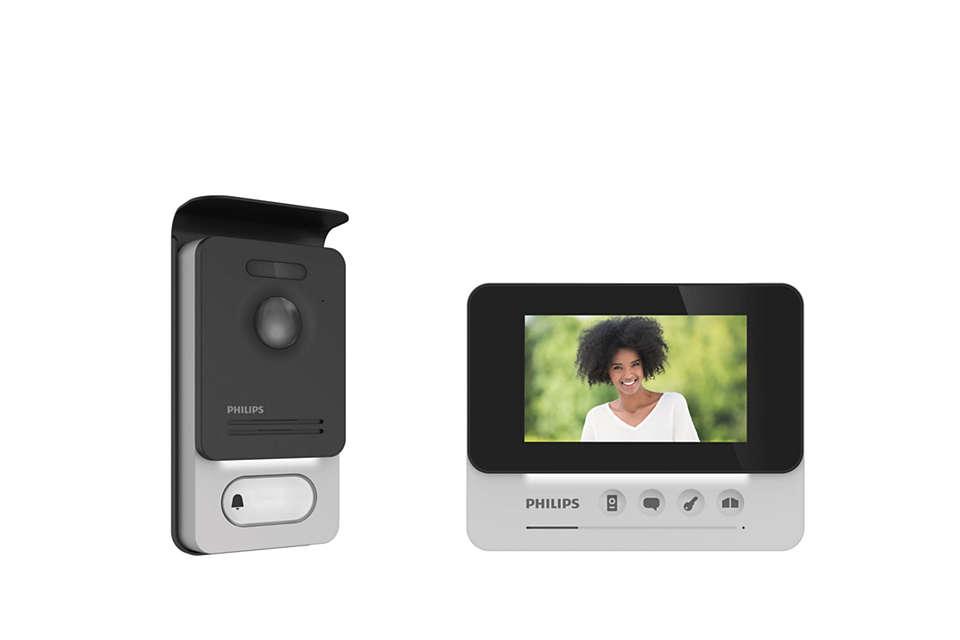 Kompakte Gegensprechanlage mit Videofunktion