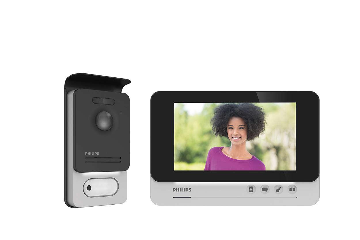 Interphone vidéo à grand écran