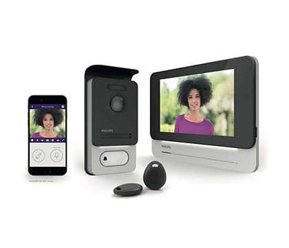 Touchscreen und verknüpfte Gegensprechanlage mit Videofunktion