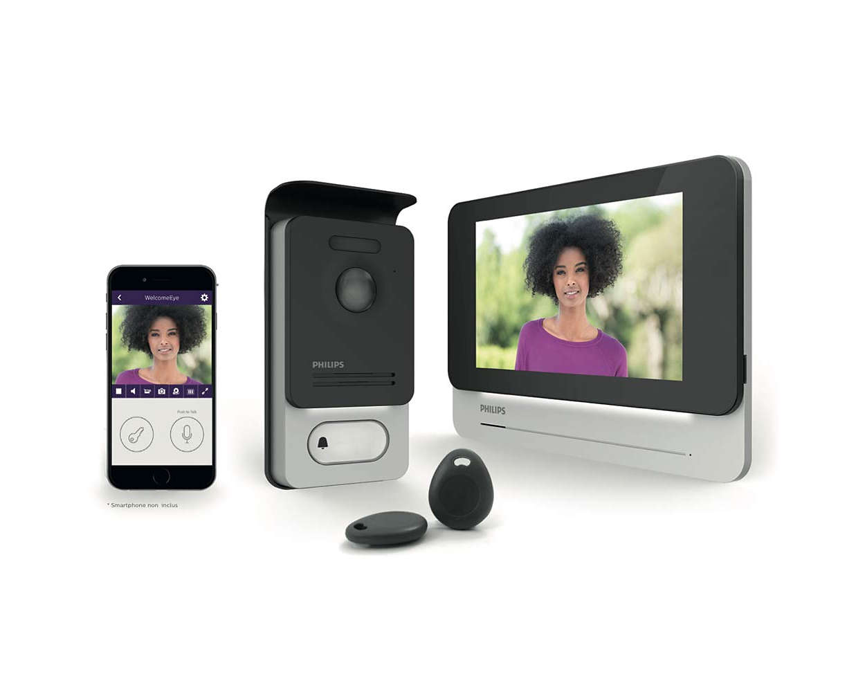 welcomeeye connect interphone vid o des9900vdp 10 philips. Black Bedroom Furniture Sets. Home Design Ideas