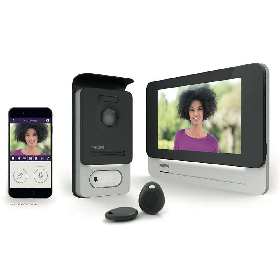 Interphone vidéo connecté à écran tactile