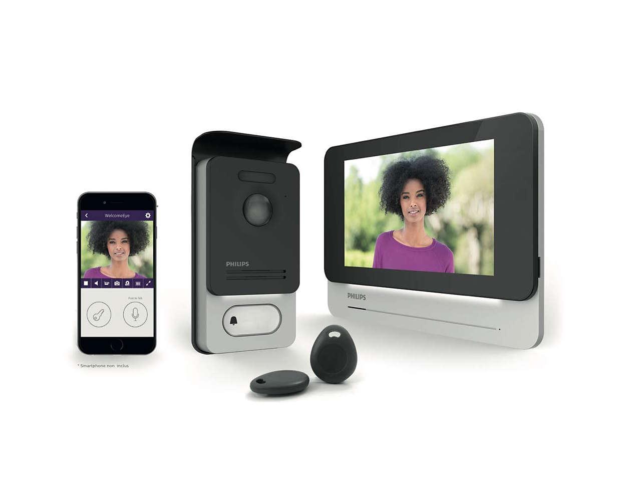 Verbonden intercom met video en touchscreen