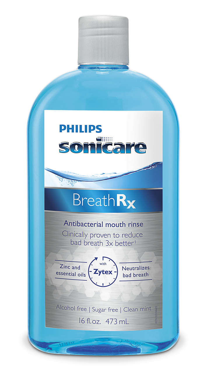 Clinically proven to reduce bad breath 3x better*
