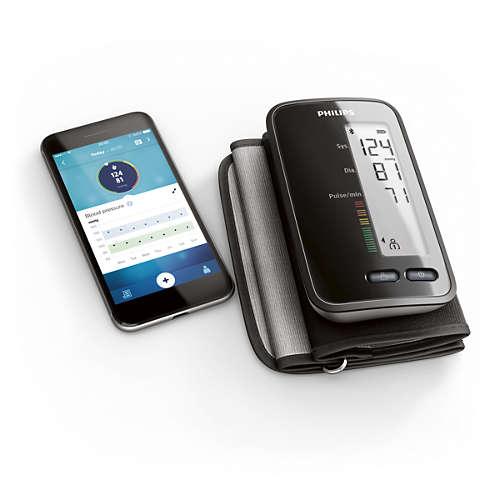 Upper arm blood pressure monitor