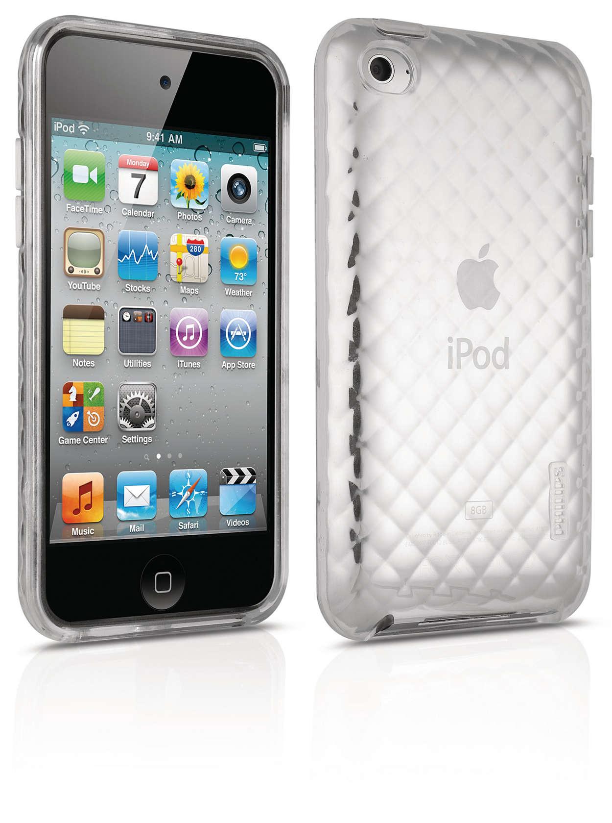 Chraňte svůj iPod pružným pouzdrem,