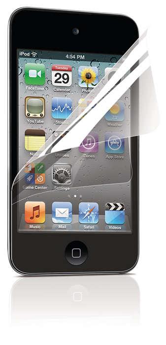 Bescherm het scherm van uw iPod