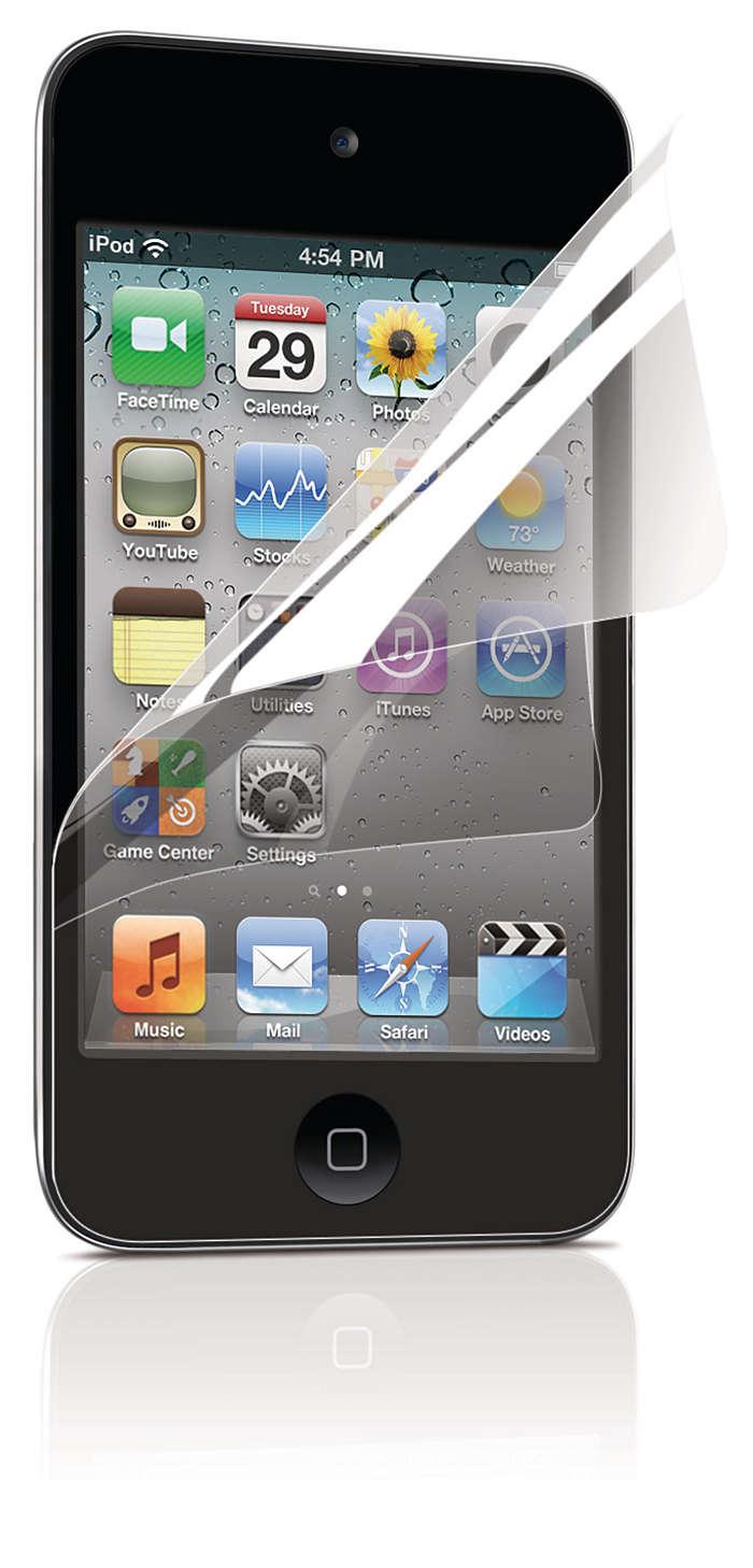 Skydda iPod-skärmen