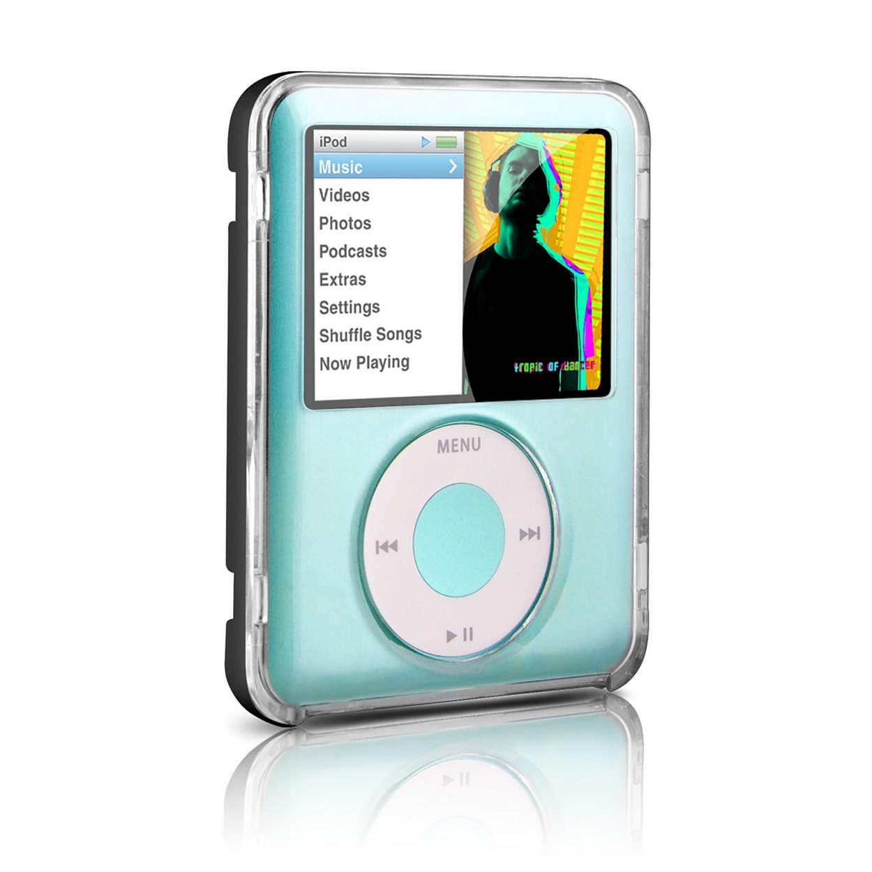 Schützt Ihren iPod in einer durchsichtigen Tasche