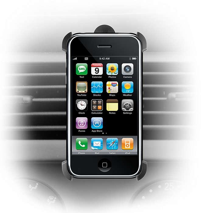 Monte o seu iPhone no automóvel