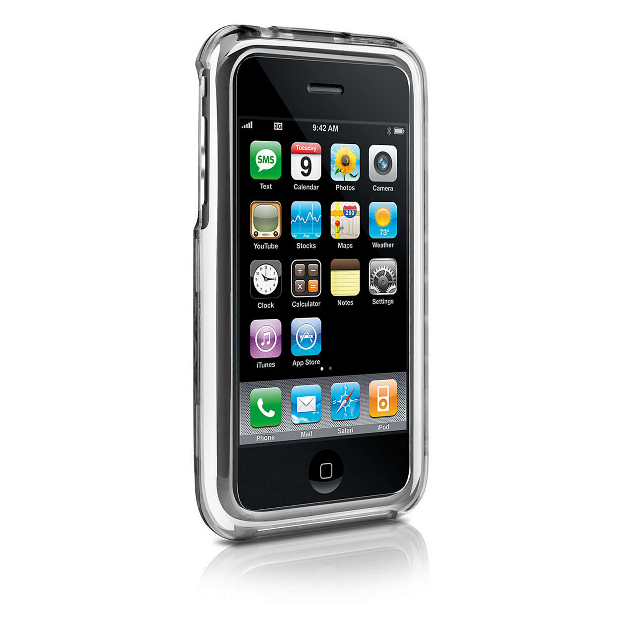 Protect your iPhone in a clear shell case