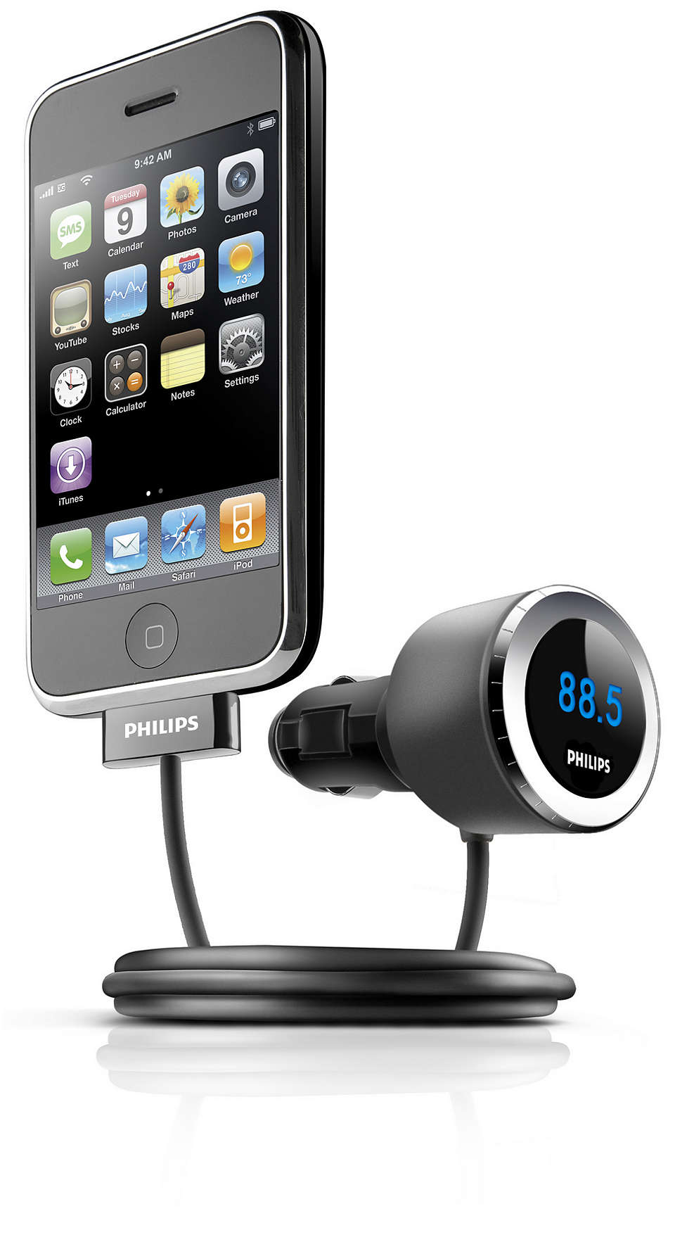 Play and charge iPhone in the car