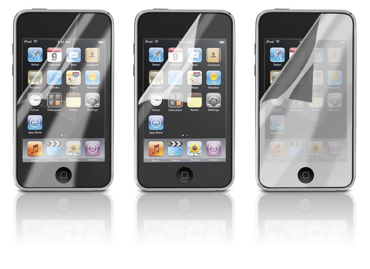 Lindungi layar iPod Anda