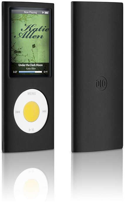 Proteja o seu iPod num estojo de silicone