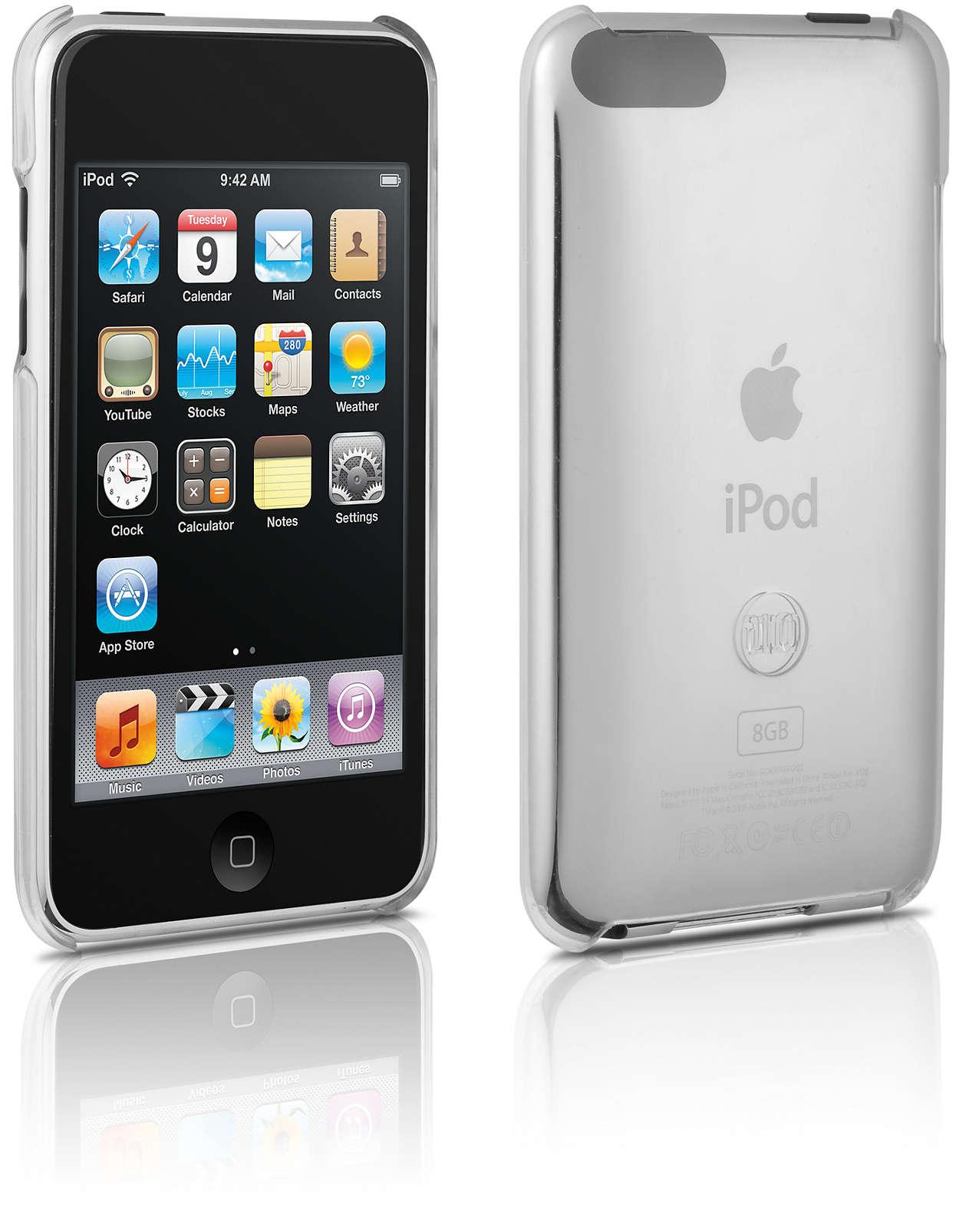 Protégez votre iPod dans un étui rigide