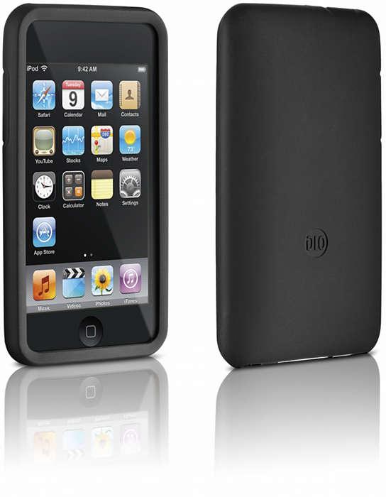 Lindungi iPod Anda dalam casing silikon