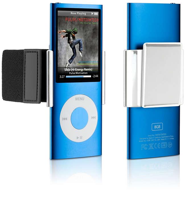 Befestigen Sie Ihren iPod an jedem beliebigen Ort,