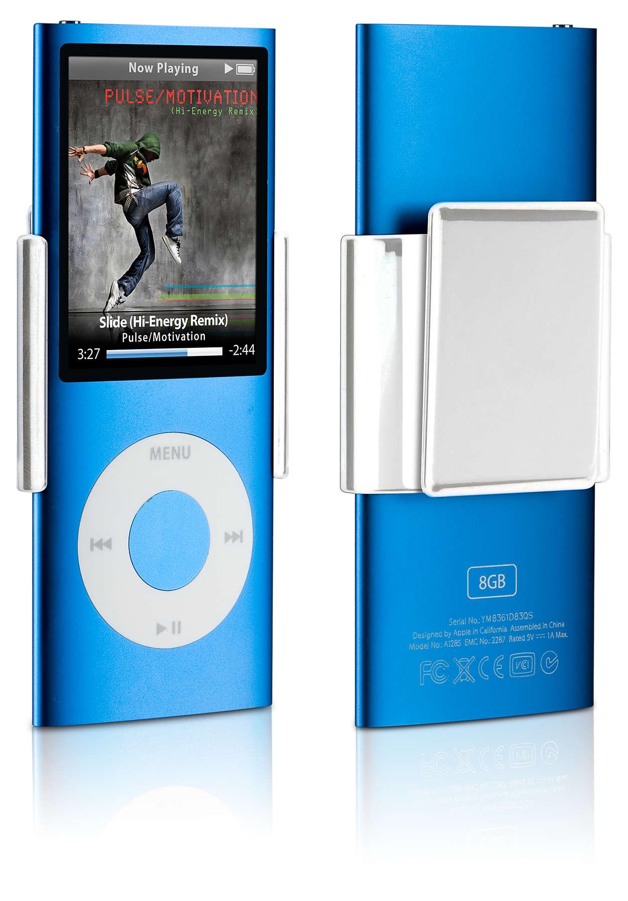 Sujeta tu iPod en cualquier parte