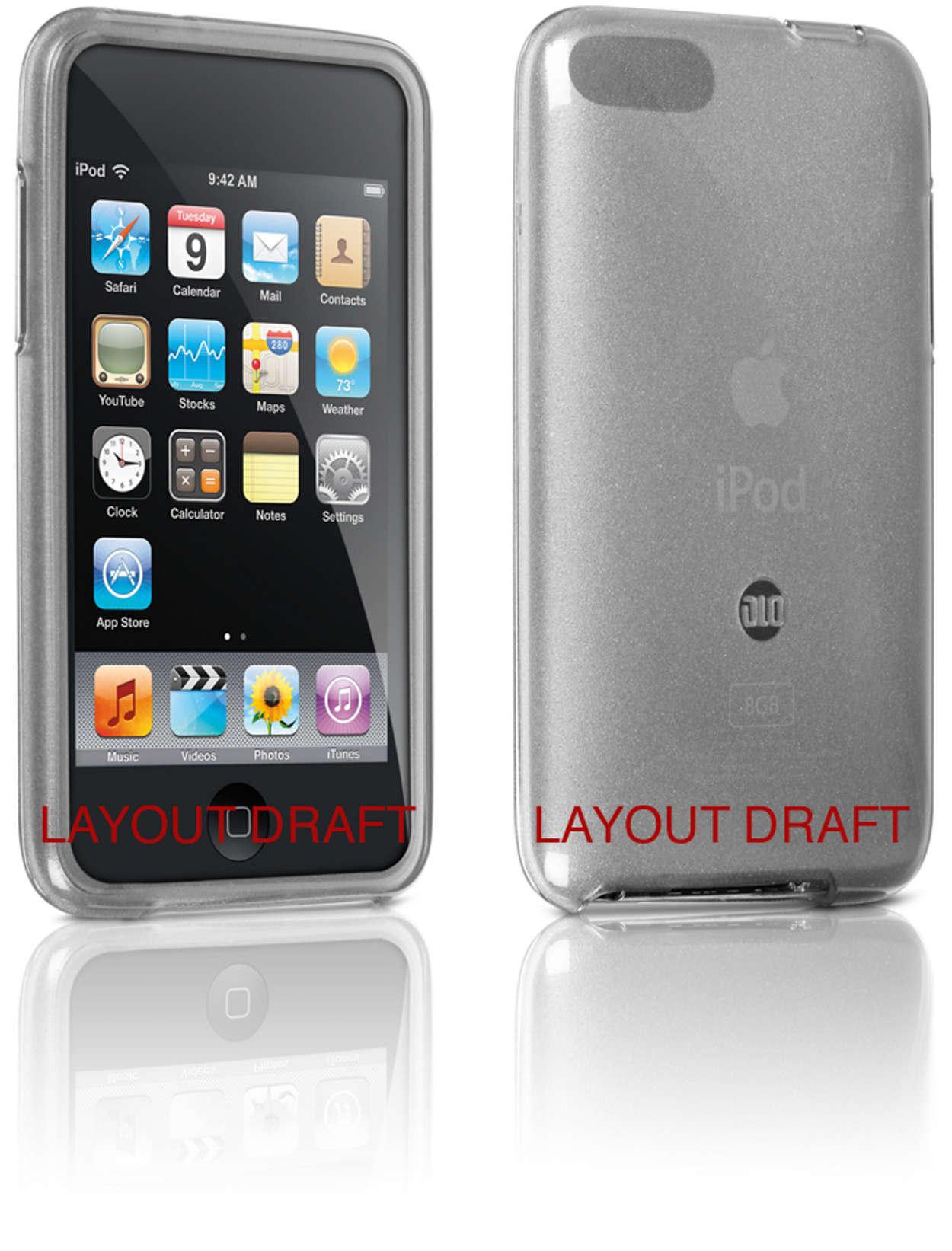 Skydda din iPod i flexibelt fodral