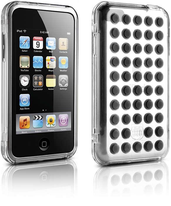 使用清晰透明硬殼保護您的 iPod