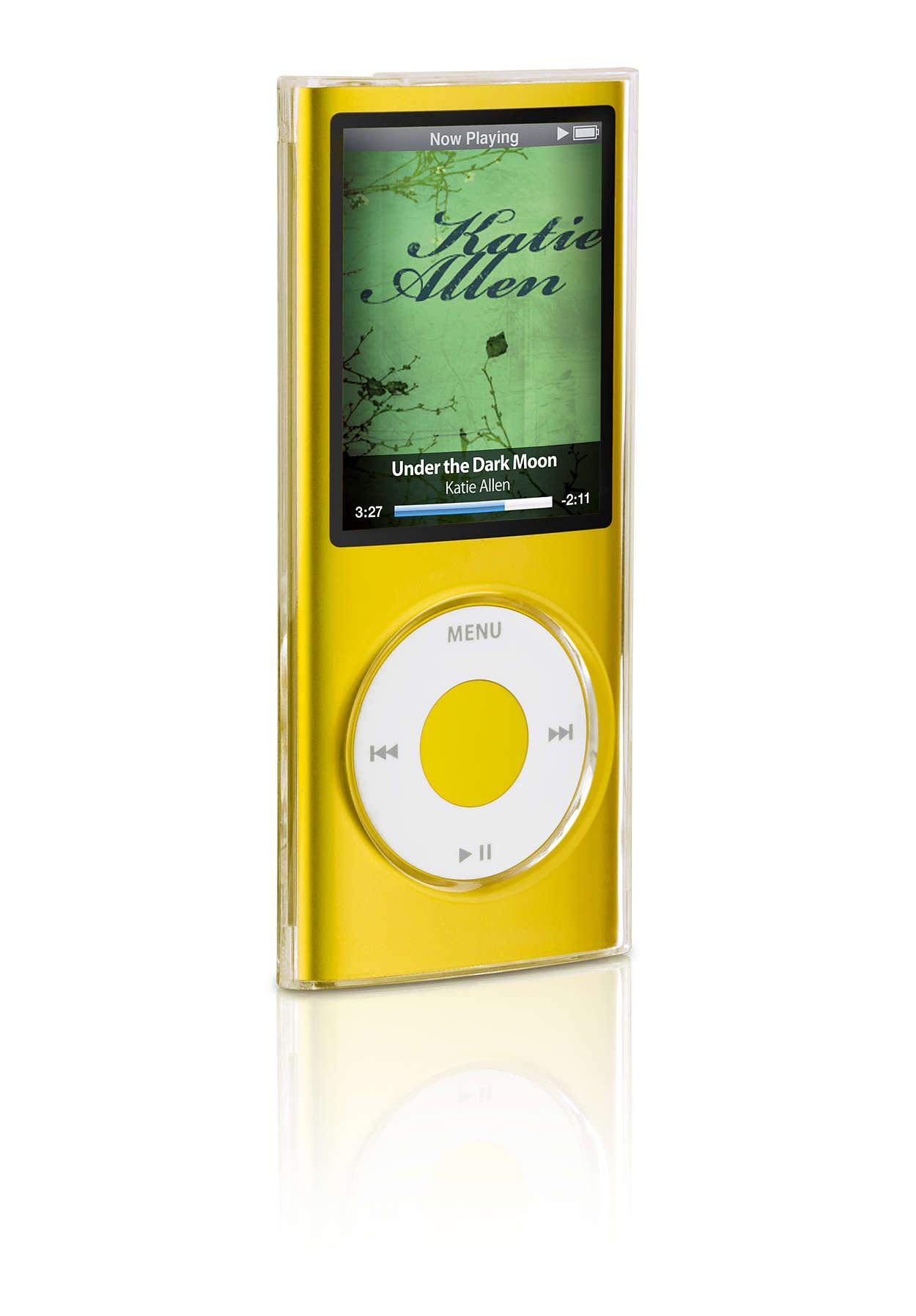 Doorzichtige bescherming voor uw iPod